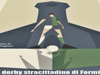 1° storico derby-Illustrazione di Riccardo Pagliani