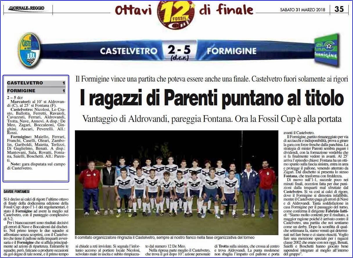 All. 2001 FOSSIL OTTAVI Castelvetro-Formigine 2-5