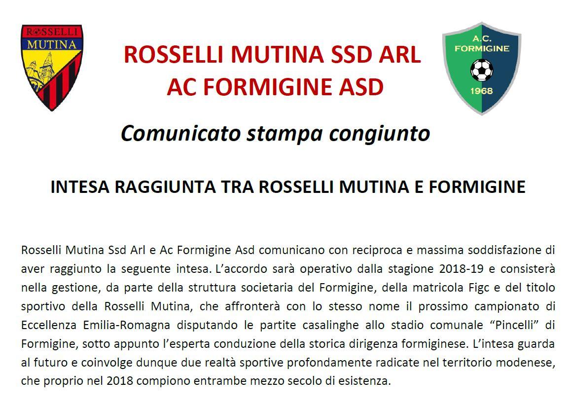 Comunicato congiunto osselliMutina_Formigine